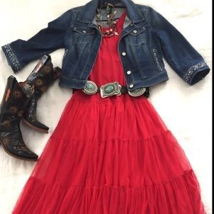 NWT Vintage Collection Red Tulle Dress Medium